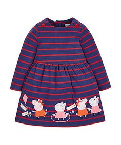 Baby Clothes and Kids Clothing from Mothercare Pegga Pig, Peppa Pig Outfit, Toddler Outfits, Kids Outfits, Jools Oliver, Pig Birthday, Character Ideas, Baby Ideas, Striped Dress