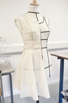 Draping on dress form