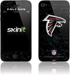 Atlanta Falcons Distressed Vinyl Skin for Apple iPhone 4 / 4S  $11.99 Iphone 4, Apple Iphone, Atlanta Falcons, How To Apply, Speakers, Cover, Adhesive, Decals, Buttons