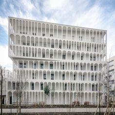 Photograph by Pierre L'Excellent of Arches Boulogne by Antonini Darmon, a social housing scheme in Paris, France