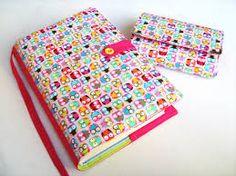 Výsledek obrázku pro návod na šitý obal na knihu Notebooks