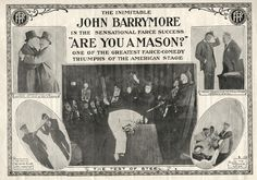Movie poster of the film Are You a Mason? (USA,1915) http://www.imdb.com/title/tt0004907/