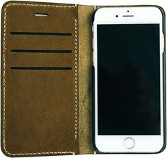 Chestnut Folio with Cream Stitch for iPhone 6/6S $59.99 Each and every iPhone deserves an iGear folio case of this quality. The Chestnut Folio Case with Cream Stitching is hand crafted to age and gain character over time. Not fall apart. It features hand style stitching and is and made with Top Grade Genuine Leather. The front flap features 3 credit card inserts so you can use your case as your wallet as well. This case will fit the iPhone 6 and iPhone 6s.