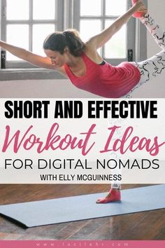 Check out this guest post I wrote about digital nomad workouts. These ideas are also fab for frequent travelers or those who spend a lot of time at their desk. Group Fitness, Health And Fitness Tips, Health Tips, Short Workouts, At Home Workouts, Desk Workout, Workout Plans, Workout Ideas, Travel Workout
