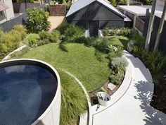 In the inner-city Brisbane suburb of New Farm, Landscapology presents a compelling vision of a new-century rural garden. Small Backyard Pools, Small Pools, Backyard Landscaping, Outdoor Pool, Outdoor Ideas, Landscaping Ideas, Landscape Design, Garden Design, Gardens