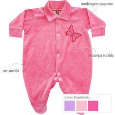 Macacão Barato de Bebê Menina em Plush Sortido - Ratel :: 764 Kids   Roupa bebê e infantil