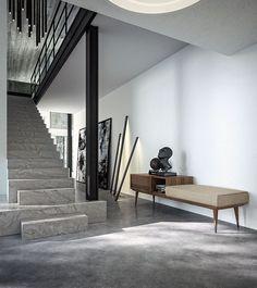 London 2021   Callesella Una #casa contemporanea e lussuosa con attenzione allo stile #vintage. Una zona di passaggio. A luxury, contemporary home that preserves strong bonds with the past. A passage area.