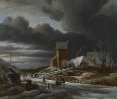 Winterlandschap, Jacob Isaacksz. van Ruisdael, ca. 1665