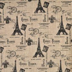 Black, Grey & Red Paris, Eiffel Tower Wallpaper Border
