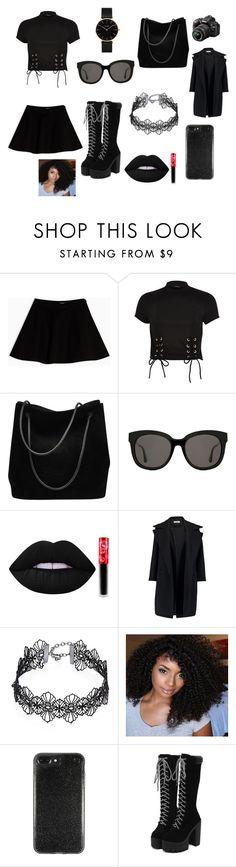 """Black outfit"" by latishapen on Polyvore featuring mode, Max&Co., River Island, Gucci, Gentle Monster, Lime Crime, Jil Sander, Design Lab, CLUSE en Nikon"