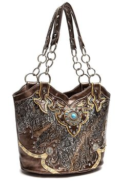 2c4617c2a79e Engrave And Rhinestone Accented Bucket Tote Bag - - Chain Handle -  MATERIAL  PU Faux Leather - 1 Compartment And 1 Zipper Pocket - 2 Small  Pouches ...