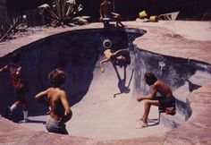 Seems to be Dog Town skate party back in the 70's.