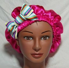 Satin Surgical Scrub Hat Bouffant Style With Satin