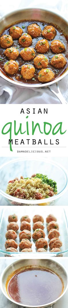 Asian Quinoa Meatballs - Healthy, nutritious and packed with so much flavor. Perfect as an appetizer or a light dinner!,