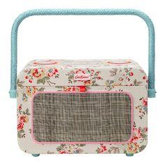 Kingswood Rose Radio Sewing Basket