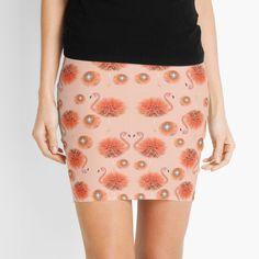 Color Patterns, Flamingo, Mini Skirts, Pencil, Coral, Sparkle, Shades, Women's Fashion, Printed
