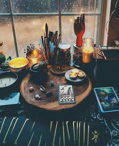 Wood slab would be a good place to keep witchy things for focused intentions!