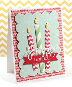 Simon Says Stamp Blog!: Paper Straw Birthday Candle Card