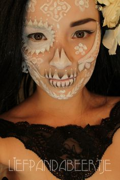 Lace inspired sugar skull   Miss Make over