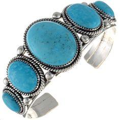 Turquoise Mens Cuff Multi Stone Navajo Bracelet