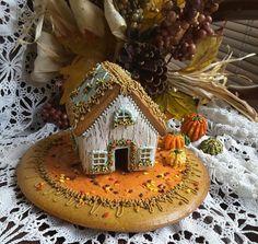 Mini Autumn gingerbread house 1 by Teri Pringle Wood                                                                                                                                                                                 More
