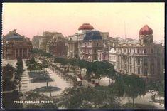 Rio de Janeiro - Praça Floriano Peixoto - Cartão Postal antigo original, editor não mencionado,