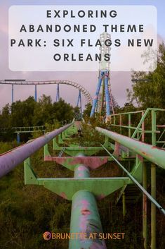 Visit the abandoned Six Flags New Orleans. The theme park opened as Jazzland park and later became six flags New Orleans. It was destroyed by hurricane Katrina. It closed down for Katrina and never reopened. It's one of the coolest and creepiest places for urban exploring.