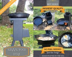 Survival Wood Stove - Rocket Stove - Emergency Stove -