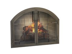 Thin-Line Fireplace Glass Door for Zero Clearance Fireplace - next ...