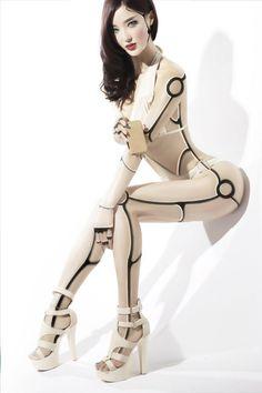 cyborg practice by female robot Cyborg Girl, Female Cyborg, Chica Cyborg, Robot Costumes, Arte Cyberpunk, Arte Robot, Art Manga, Robot Girl, Jolie Lingerie