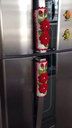 Best 12 crochet refrigerator cover – Page 293156256985267412 Crochet Diy, Crochet Towel, Crochet Potholders, Crochet Home Decor, Crochet Motif, Crochet Designs, Crochet Crafts, Crochet Flowers, Crochet Projects