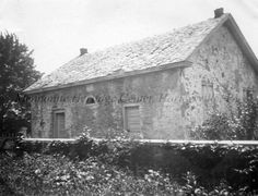 Photo of Diamond Rock Mennonite Meetinghouse and Cemetery, Tredyffrin Twp., Chester Co., PA, ca. 1923.