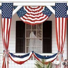 July 4th Decorations - flags  swags #Epicurious #July4th
