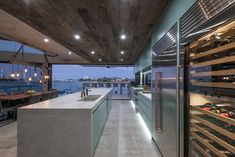 Amazing kitchen with a luxurious industrial feel in this stunning contemporary home on the water in Queensland. Visit to see the rest of this GORGEOUS house by one of Australia's best home designers Chris Clout Design. Custom Home Designs, Custom Homes, Luxury Kitchens, Cool Kitchens, New Kitchen Designs, Luxury Packaging, Luxury Homes, Designers, Rest