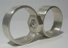 This Awesome Mating Nut And Bolt Wedding Band Set By Kiley Granberg Is Perfect For Diyer S That Want To Show The World What They Re About