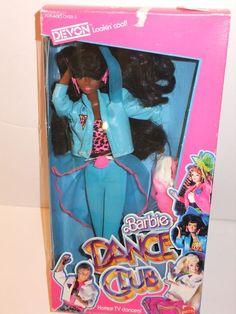 ** NIB BARBIE DOLL 1989 DANCE CLUB DEVON BLACK AA