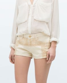 EMBROIDERED DENIM SHORTS - Last sizes - Stock clearance - TRF - PROMOCIJA | ZARA Spain