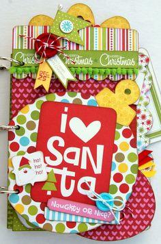 I love Santa album - so cute!