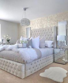 Cute Bedroom Ideas, Room Ideas Bedroom, Home Decor Bedroom, White Bedroom Decor, Bed Room, Kids Bedroom, Master Bedroom, Glam Bedroom, Dream Rooms