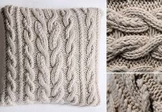 UO Cable Knit Pillow