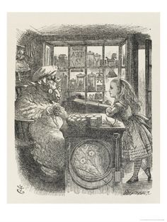 Alice with the Sheep Shopkeeper Giclee Print
