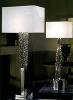 "Special Order Grand Scale Design: 38"" Sculptural Column Lamp * Platinum Plated * Luxury Hotel Contract Orders Welcome"