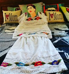 Frida Mexican Dress and Pillows at Barrio Antiguo #HoustonHeights #HoustonTexas 713 8802105