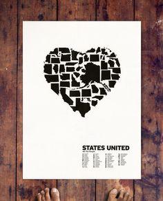 STATES UNITED, LETTERPRESS
