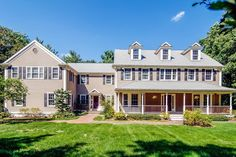 Serenity in suburbia! This gorgeous 5 bedroom colonial is a hidden gem nestled on a wooded acre abutting conservation land and hiking trails. Boasting over 6000 sq ft this home is designed for entertaining and today's lifestyle; with an open floor plan and beautiful custom details through out; welcoming farmer's porch, two story foyer, high ceilings, large walk out bay windowed living room, formal dining room with wainscoting, gourmet kitchen with Thermador cooking and a Sub Zero, custom…
