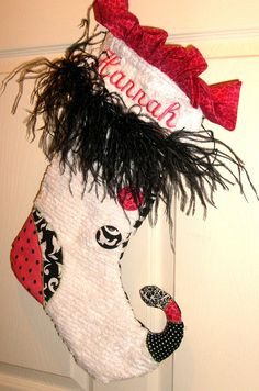 Personalized Christmas Stockings 2012 Delivery by ChamberryCherry, $48.00