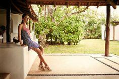 Agave Yve Short Dress #ViXCruise2014 #dresses #daydress #silk #resort #resortwear #fashion #Brazil #luxury #vacation #ViX #ViXPaulaHermanny