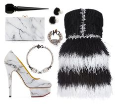 """""""Untitled #170"""" by poohgurl ❤ liked on Polyvore featuring Charlotte Olympia, HUISHAN ZHANG, Venna, Jocelyn and Christian Louboutin"""
