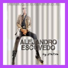 Alejandro Escovedo Big Station Custom Shower Curtains 60x72 Inch Polyester