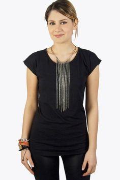 Every fashionista knows that you need some good fundamental items to built your wardrobe on. This black colored top is such an item. The top has a beautiful neck which will create a great decollete for you! The top has a long model and is made of soft material. Wear with one of our beautiful statement necklaces.  #2dayslook #clothings  www.2dayslook.com